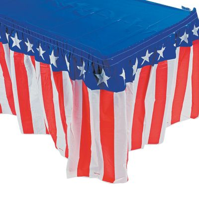 Quickview · Image Of Patriotic Table Skirt With Sku:35/492
