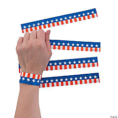 Patriotic Printed Wrist Tickets