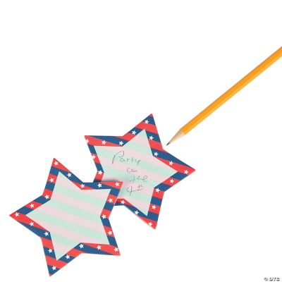Patriotic Star Sticky Notes