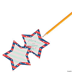 Patriotic Star Sticky Notes