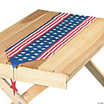 Stars & Stripes Table Runner with Hanging Accents