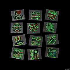 Glow-in-the-Dark Patriotic Tattoos
