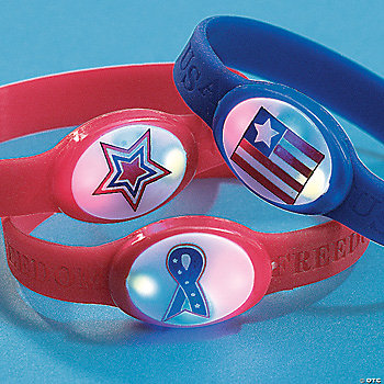 Patriotic Flashing Bracelets