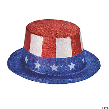 Patriotic Glittery Top Hats