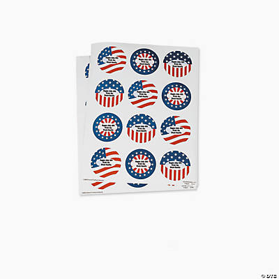 Personalized Patriotic Stickers