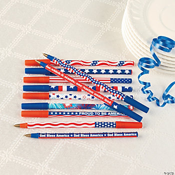 Patriotic Stick Pen Assortment