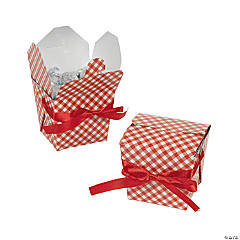Red Gingham Take Out Boxes