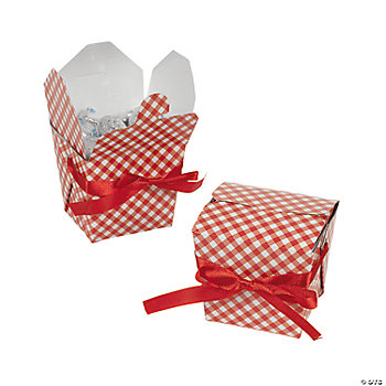Red Gingham Takeout Boxes