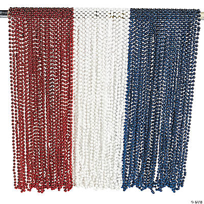 Patriotic Red, White & Blue Bead Assortment
