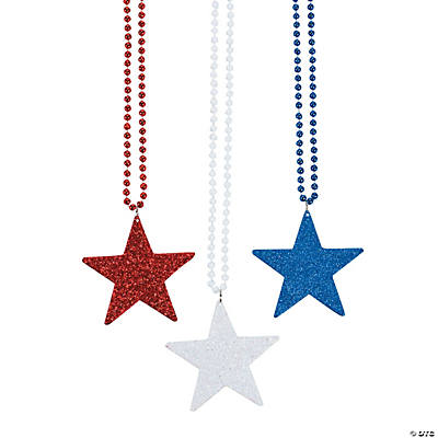Red, White & Blue Star Necklaces