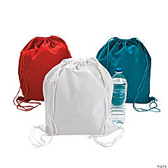 Red, White & Blue Large Drawstring Backpacks