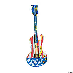 Inflatable Patriotic Guitars