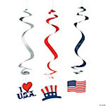 Patriotic Icon Dangling Swirls