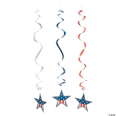Patriotic Hanging Swirls