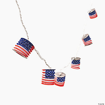 U.S. Flag Lantern Light Set