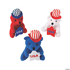 Plush Patriotic Bears