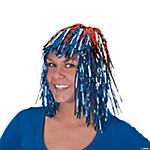 Patriotic Tinsel Wig