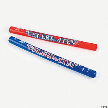 Inflatable Patriotic Noisemaker Sticks