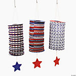Patriotic Hanging Lanterns