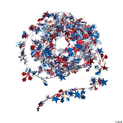 Patriotic Wire Star Garland