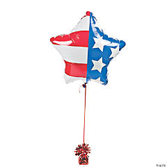 Patriotic Star-Shaped Mylar Balloons