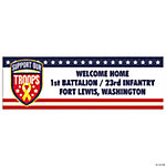Support Our Troops Small Personalized Banner