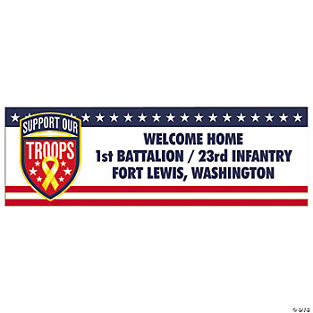 "Personalized ""Support Our Troops"" Banners - Medium"