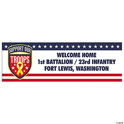 Support Our Troops Medium Personalized Banner
