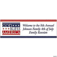 "Personalized ""God Bless America"" Banners - Large"