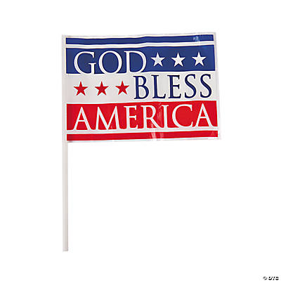 """God Bless America"" Mini Flags"
