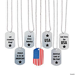 Patriotic Dog Tag Necklaces