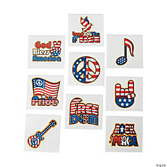 Glow-In-The-Dark Patriotic Rocker Tattoos