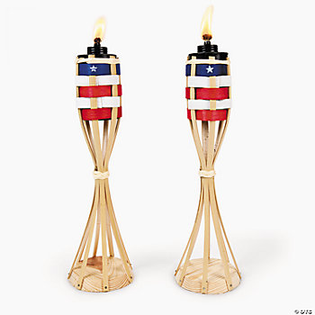 USA Flag Tabletop Torches