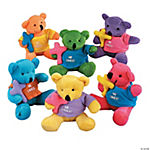 "12 Plush Bears Wearing A ""He Lives!"" T-Shirt"