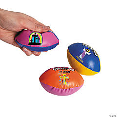 "Vinyl Foam-Filled ""He Lives!"" Footballs"