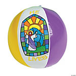 "Mini Inflatable ""He Lives!"" Beach Balls"