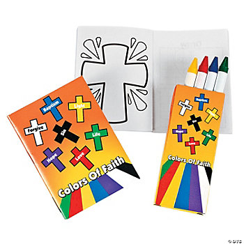 "Mini ""Colors Of Faith"" Coloring Sets"