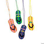 """Walking with Jesus"" Flip Flop Necklaces"