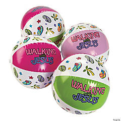 "Inflatable ""Walking With Jesus"" Beach Balls"