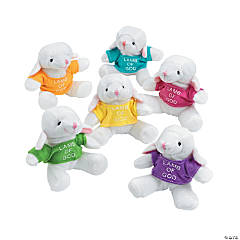 Plush Lambs with a Religious T-Shirt