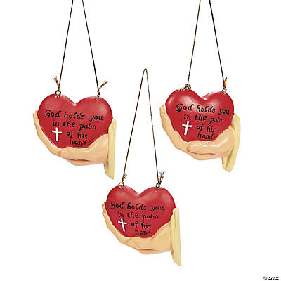 """God Holds You in the Palm of His Hand"" Ornaments"
