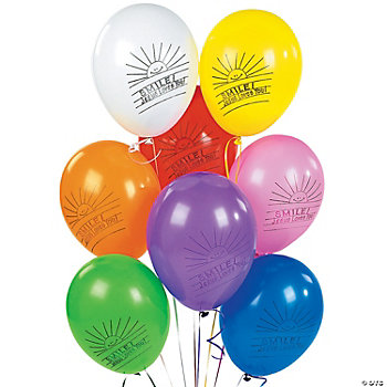 "Latex ""Smile! Jesus Loves You!"" Balloons"