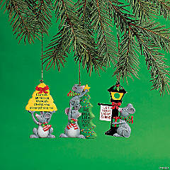 Inspirational Mice Christmas Ornaments