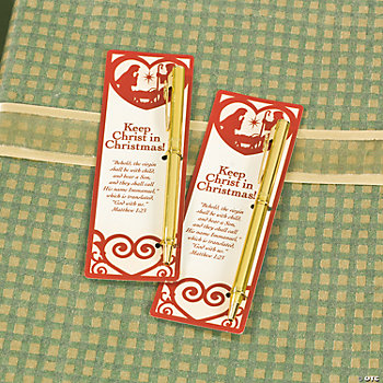 """Keep Christ in Christmas"" Pen & Bookmark Sets"