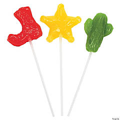 Bright Western Cowboy Lollipops