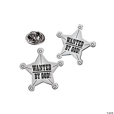 "Mini ""Wanted By God"" Western Badges"