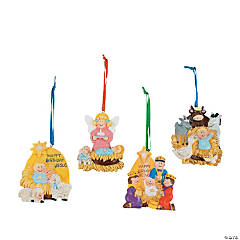 """Happy Birthday Jesus"" Christmas Ornaments"
