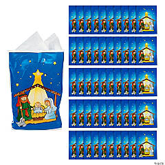 Large Nativity Bags
