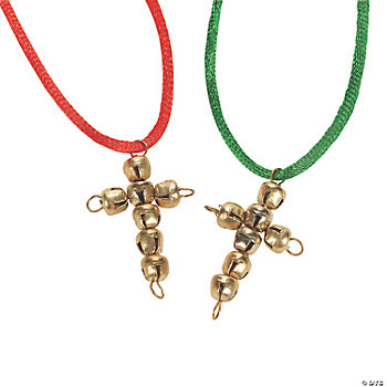 Jingle Bell Cross Necklaces
