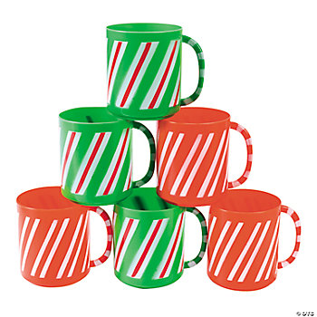 Candy Cane Striped Mugs